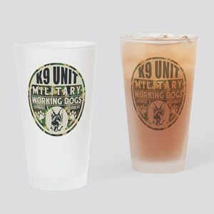 K9 Unit Military Working Dogs Drinking Glass