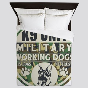 K9 Unit Military Working Dogs Queen Duvet