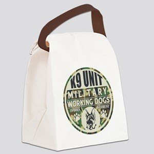 K9 Unit Military Working Dogs Canvas Lunch Bag