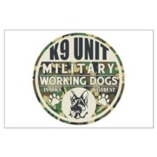 K9 Unit Military Working Dogs Large Poster