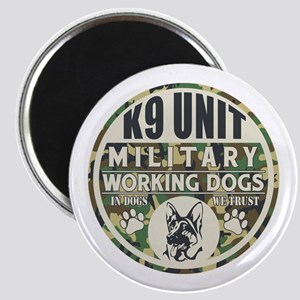 K9 Unit Military Working Dogs Magnet