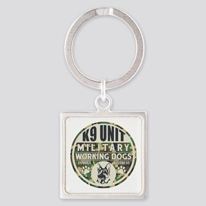 K9 Unit Military Working Dogs Square Keychain