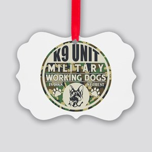 K9 Unit Military Working Dogs Picture Ornament