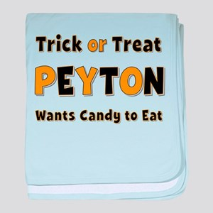 Peyton Trick or Treat baby blanket