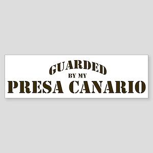 Presa Canario: Guarded by Bumper Sticker