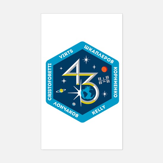 Expedition 43 Sticker (Rectangle)