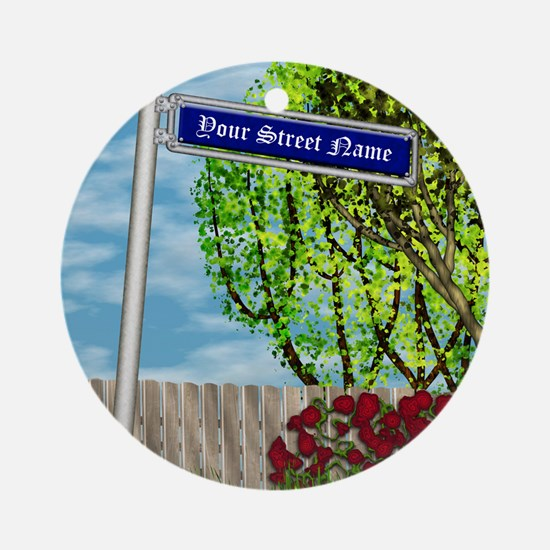 personalizable vintage street Ornament (Round)