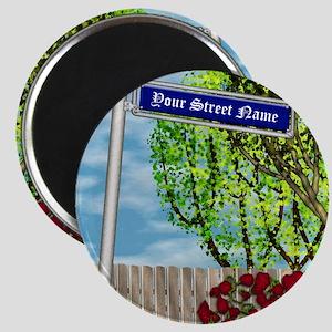 personalizable vintage street Magnet