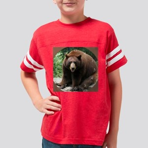 bearlarge clock Youth Football Shirt