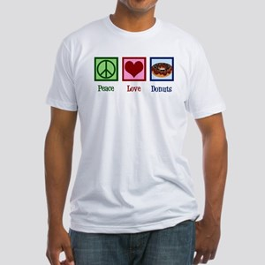 Peace Love Donuts Fitted T-Shirt