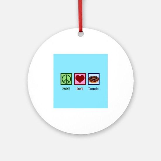 Rainbow Heart Round Ornament