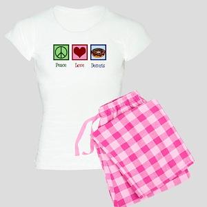 Peace Love Donuts Women's Light Pajamas