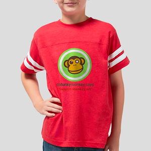 4-3-Support monkey art Youth Football Shirt