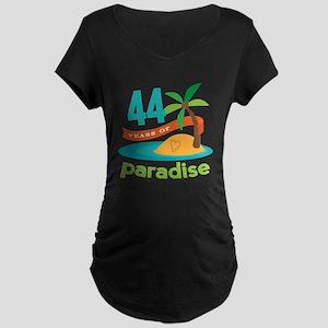 44th Anniversary Paradise Maternity Dark T-Shirt