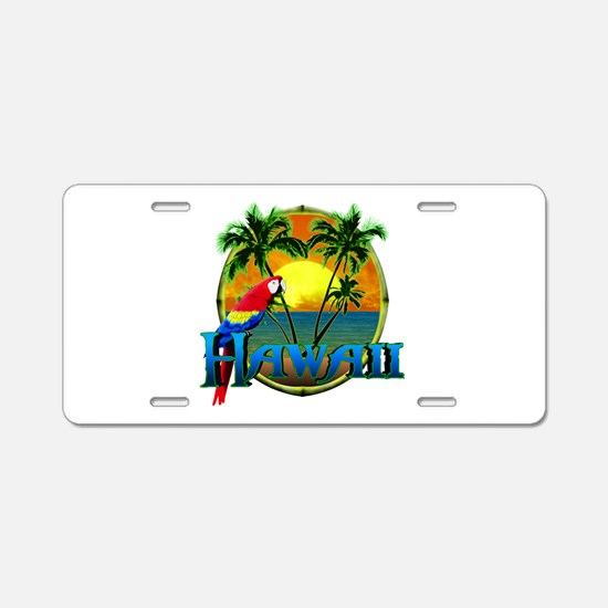 Hawaiian Sunset Aluminum License Plate