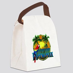 Hawaiian Sunset Canvas Lunch Bag