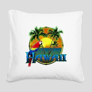 Hawaiian Sunset Square Canvas Pillow