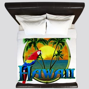 Hawaiian Sunset King Duvet