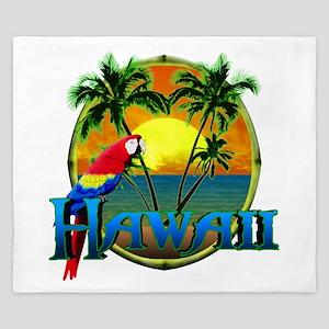 Hawaiian Sunset King Duvet