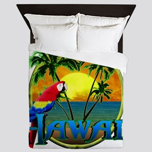Hawaiian Sunset Queen Duvet