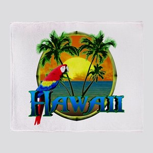 Hawaiian Sunset Throw Blanket