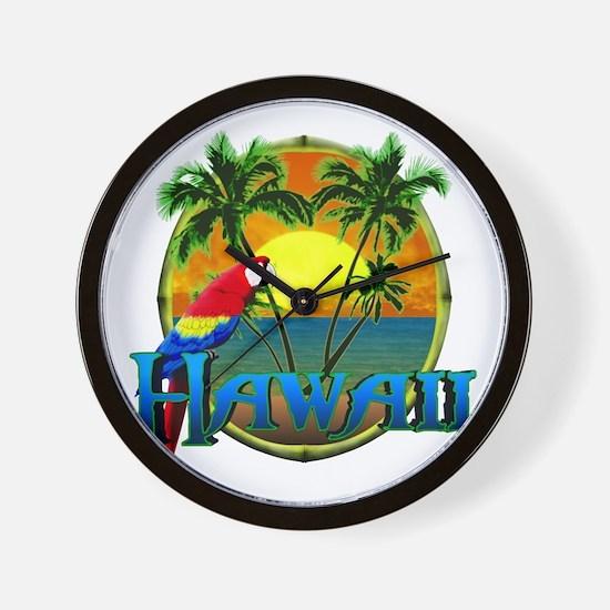 Hawaiian Sunset Wall Clock