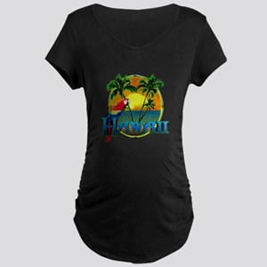 Hawaiian Sunset Maternity T-Shirt