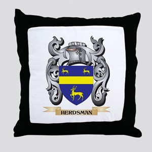 Herdsman Coat of Arms - Family Crest Throw Pillow