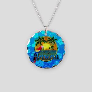 Hawaii Sunset Blue Honu Necklace
