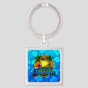 Hawaii Sunset Blue Honu Keychains