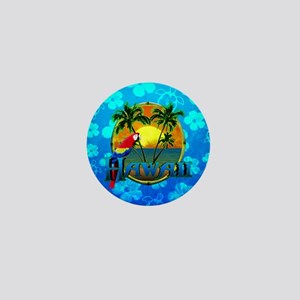 Hawaii Sunset Blue Honu Mini Button
