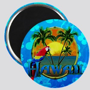 Hawaii Sunset Blue Honu Magnet