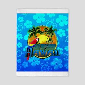 Hawaii Sunset Blue Honu Twin Duvet