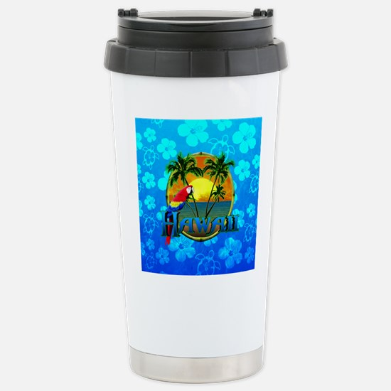 Hawaii Sunset Blue Honu Travel Mug