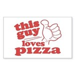 This Guy Loves Pizza Sticker