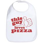This Guy Loves Pizza Bib