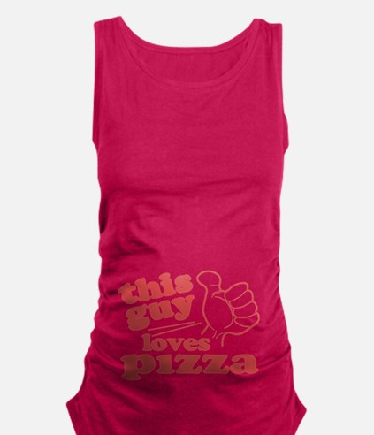 This Guy Loves Pizza Maternity Tank Top