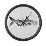 Channel Catfish 2f Large Wall Clock