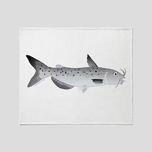 Channel Catfish 2f Throw Blanket