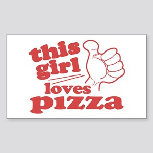 This Girl Loves Pizza Sticker