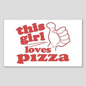 This Girl Loves Pizza Sticker