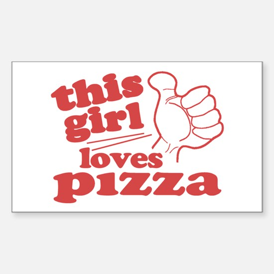 This Girl Loves Pizza Decal