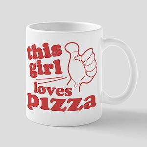 This Girl Loves Pizza Mug