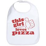 This Girl Loves Pizza Bib