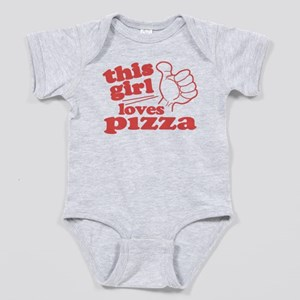 This Girl Loves Pizza Baby Bodysuit