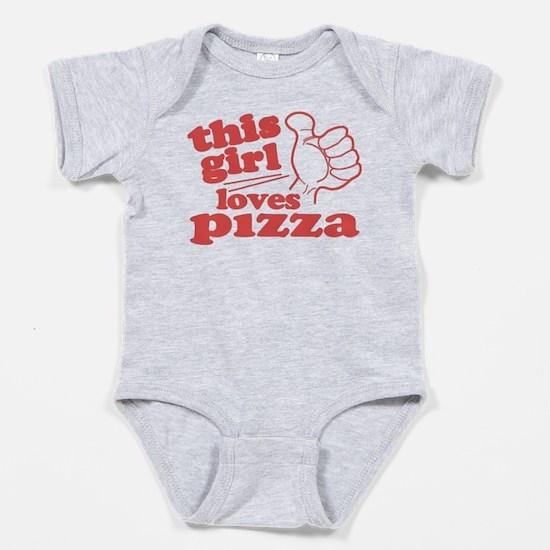 This Girl Loves Pizza Baby Bodysuit