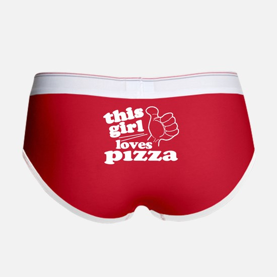 This Girl Loves Pizza Women's Boy Brief