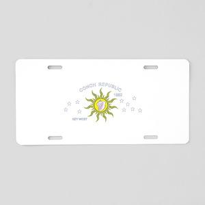 Key West Flag Aluminum License Plate