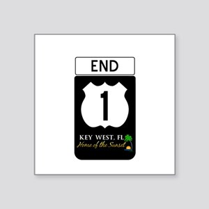 Highway 1 Key West Sticker