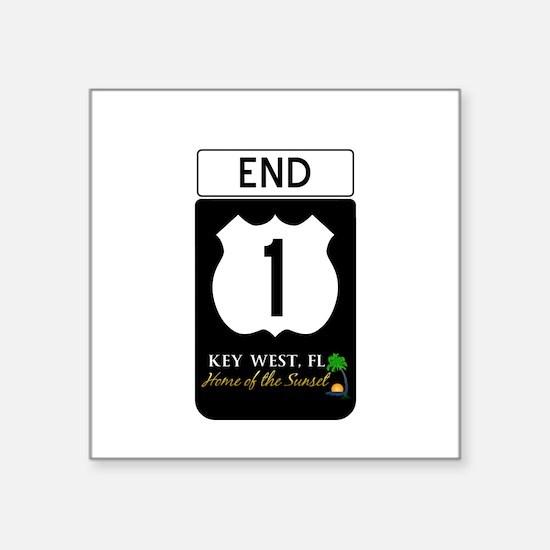 Highway 1 Key West Sticker